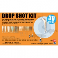 набор оснастки SG Dying Minnow Drop Shot Pro Pack Kit 30pcs NL 48753