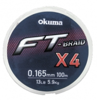 Шнур Okuma FT Braid X4 150m Yellow