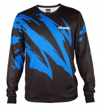 Футболка Okuma Tech-T Long Sleeve Shirt Black Motif